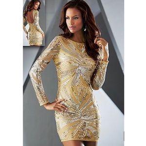 Venus Open Back Sequin Dress Size 8 NWT